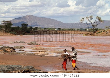 Men from the Samburu Tribe in Kenya