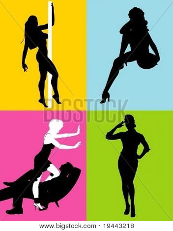 Sexy females in vector art
