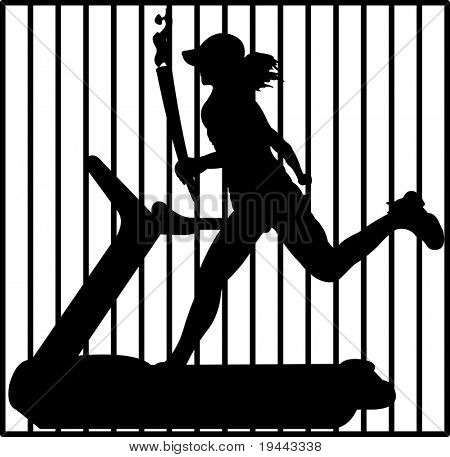 portador de la antorcha en la cárcel
