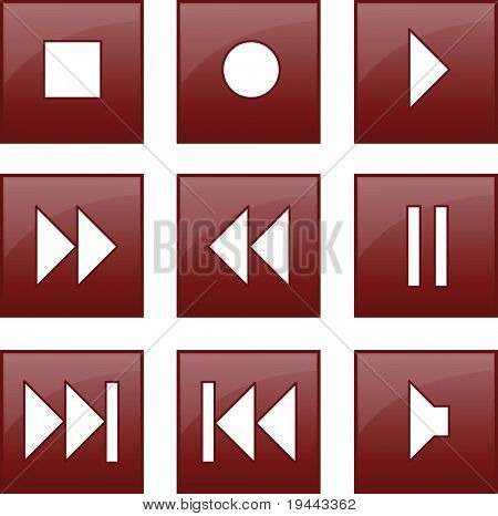 audio and video control buttons