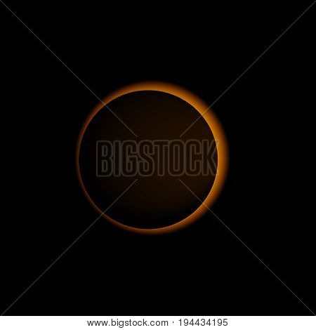 sun eclipse solar  vector realistic eclipse illustration
