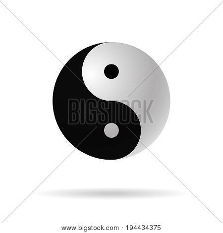 yin yang 3d  icon vector harmony symbol  vector