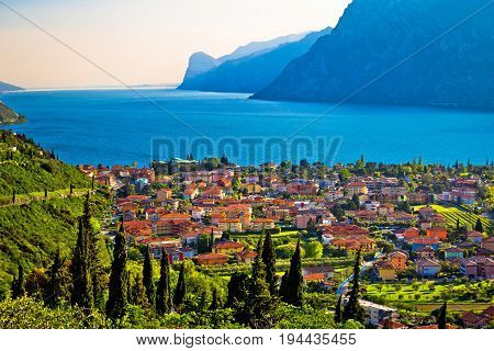 Town Of Torbole And Lago Di Garda View