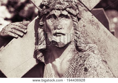 Jesus Christ Carrying the cross (fragment of statue)