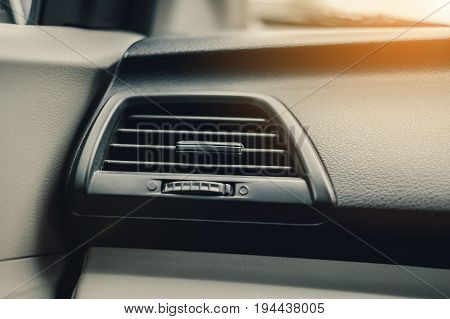 Air conditioning system in automative car, interior detail