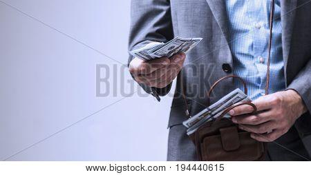 Successful businessman lends you money (Freedom success money)