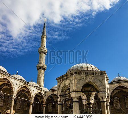 Sultanahmet - Blue mosque building architecture, Istanbul, Turkey