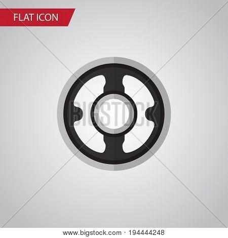 Isolated Pulley Flat Icon. Belt Vector Element Can Be Used For Pulley, Gear, Belt Design Concept.