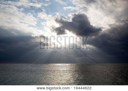 sky clouds water