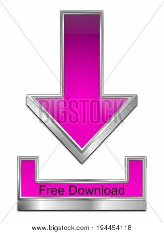 purple Free Download Symbol - 3D illustration