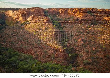 Landscape of the Kings canyon in the Northern Territory, Australia.