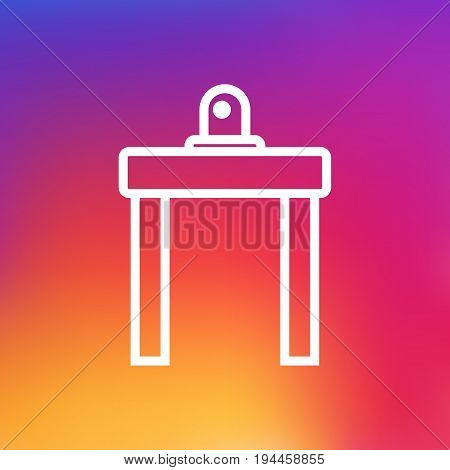 Isolated Device For Detection Outline Symbol On Clean Background. Vector Airport Security Element In Trendy Style.