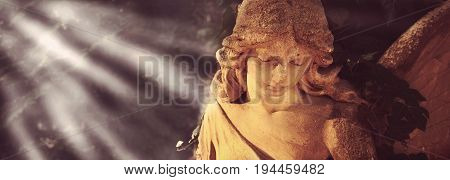 Guardian angel with wings as a symbol of safety and security