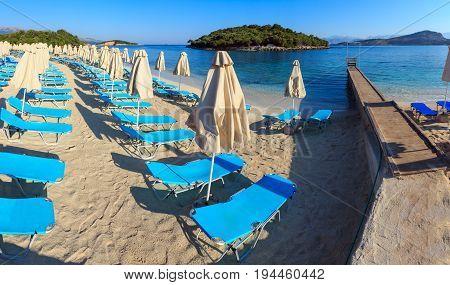 Summer Morning Ksamil Beach, Albania.