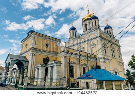 Ascension Cathedral - the main Orthodox church of the city of Yelets, the cathedral church of Elets Diocese, Russia