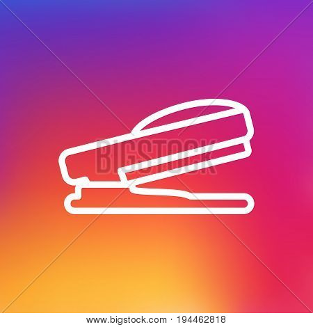 Isolated Stapler Outline Symbol On Clean Background. Vector Staple Element In Trendy Style.