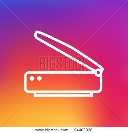 Isolated Photocopy Outline Symbol On Clean Background. Vector Scanner Element In Trendy Style.