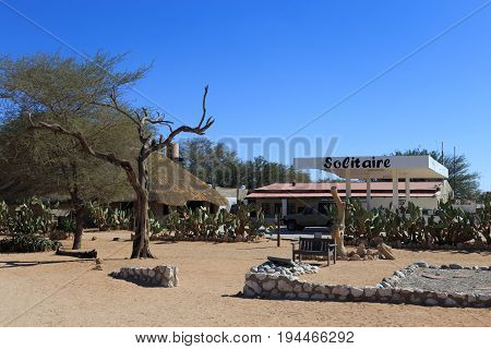Solitaire, Namibia - May 19, 2017: Solitaire Gas Station. Solitaire, Namibia