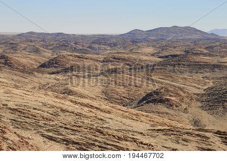 Moon Valley, Rocky Landscape Furrowed By Erosion, Namib-naukluft Park, Namib Desert, Namibia