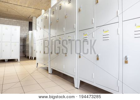 At school there is a room specifically for wardrobes