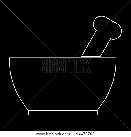 Mortar And Pestle The White Path Icon .