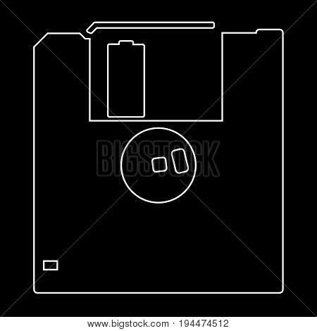 Floppy Disk  The White Path Icon .