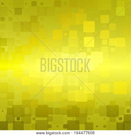 Golden Yellow Khaki Glowing Rounded Tiles Background