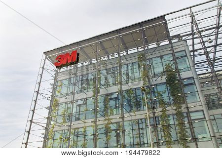 Prague, Czech Republic - May 22: 3M Company Logo On Headquarters Building On May 22, 2017 In Prague,