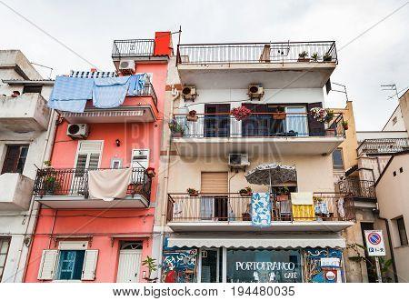 Typical Apartment House In Giardini Naxos Town