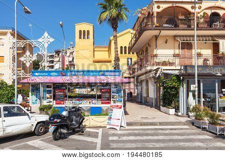 Piazza San Pancrazio In Giardini Naxos Town