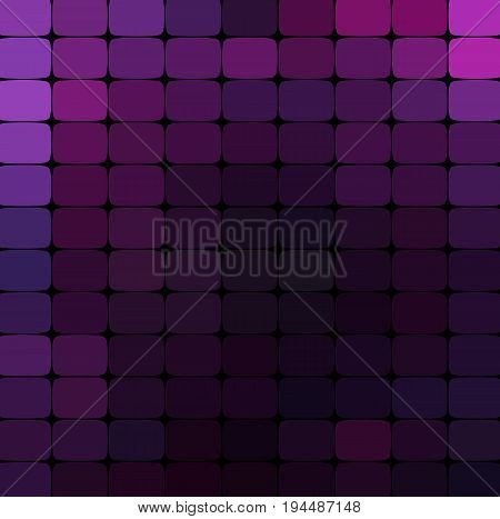 vector abstract colorful mosaic background. Purple colors An abstract background consisting of elements of a different shape, located in a mosaic style. Vector illustration.