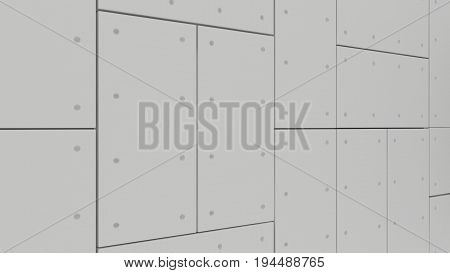 Wall Acoustic Panels , 3D Render Interior Design, Mock Up Illustration