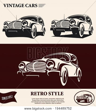 The vintage cars retro style since 1953