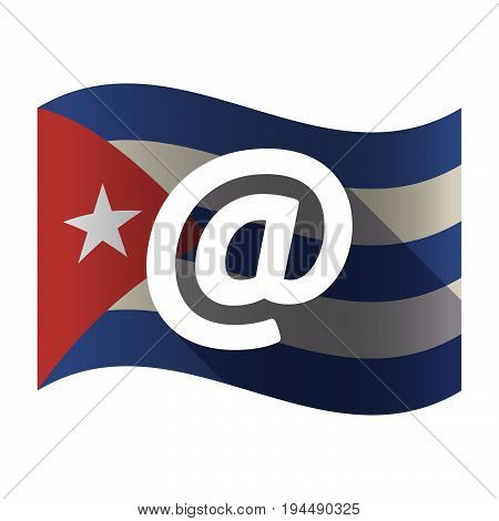 Isolated Cuba Flag With An At Sign