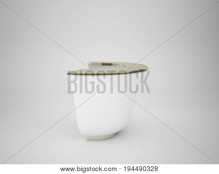 3D Rendering Abstract Object Geometry Isolated On White Background