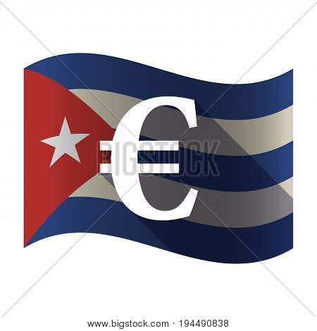 Isolated Cuba Flag With An Euro Sign