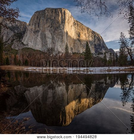 El Capitan and its Reflection in the Merced River, Yosemite