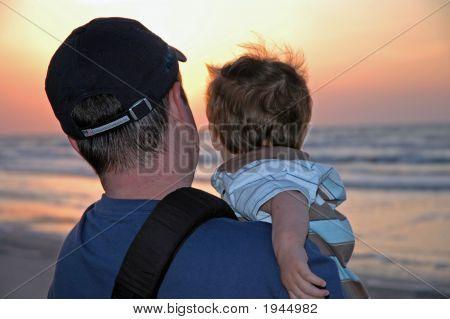 Father Son Sunrise