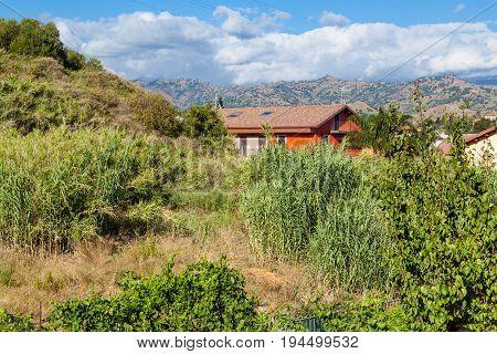 Cottage In Overgrown Garden In Giardini Naxos Town