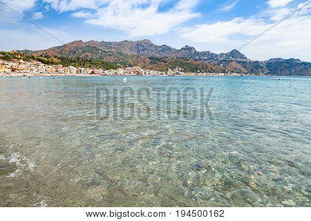 Clear Water On Ionian Sea Near Giardini Naxos