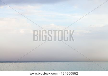 Blue Sky With White Clouds Over Ionian Sea