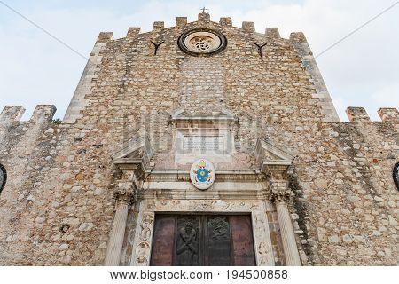 Facade Of Duomo Di Taormina