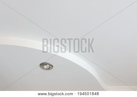 Trey ceilings with point electric lamps a