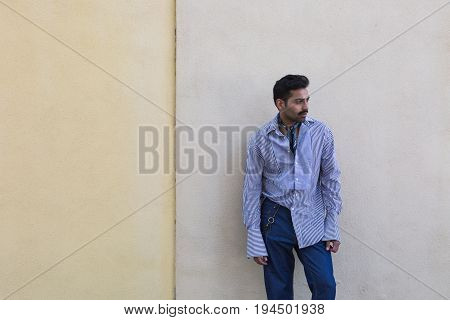 Handsome Man Posing In An Urban Context
