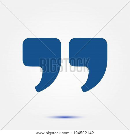Speech icon. Dialog symbol. Chat quote sign.
