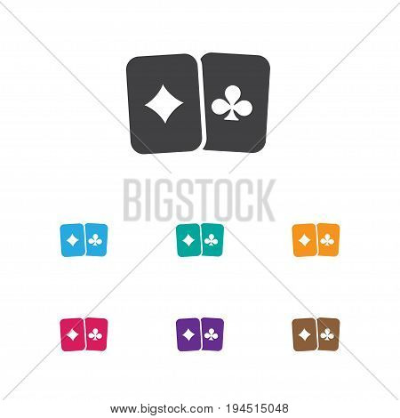 Vector Illustration Of Game Symbol On Playing Cards Icon. Premium Quality Isolated Card Pair Element In Trendy Flat Style.