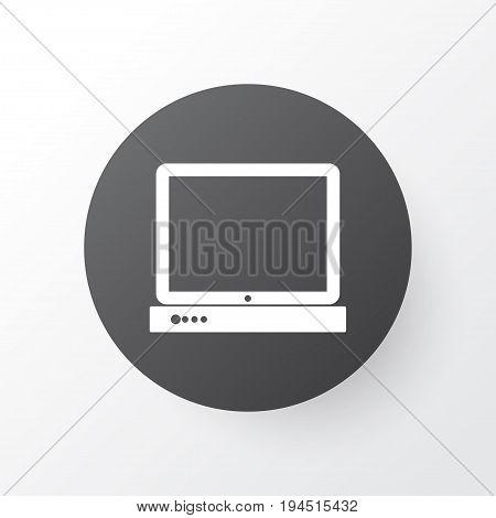 Desktop Computer Icon Symbol. Premium Quality Isolated PC Element In Trendy Style.