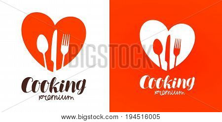 Cooking, cuisine, cookery logo. Restaurant, menu, cafe, diner icon or label. Vector illustration isolated on white background