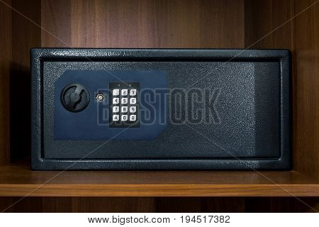 Safe box in home or hotel room