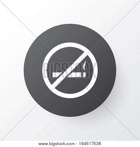 Do Not Smoke Icon Symbol. Premium Quality Isolated Cigarette Forbidden Element In Trendy Style.